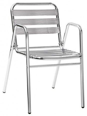 Comoda, maneggevole e raffinata sedia realizzata interamente con struttura in alluminio anodizzato e saldato. Adatta per interno e per esterno. Ideale per bar, caffè, residence, ristoranti, locali, gelaterie, alberghi, b&b, stabilimenti balneari. Impilabile.