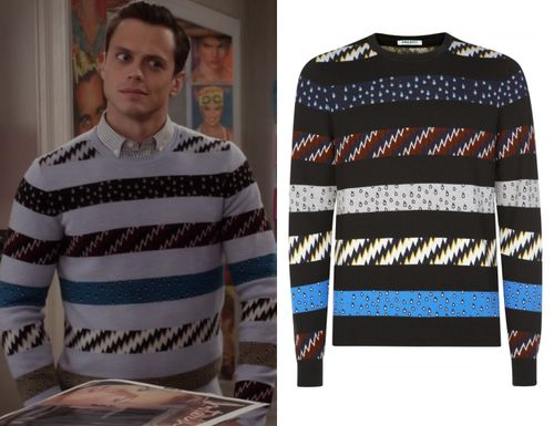 I think we already know that Bennet has incredible style but this really is the most incredible sweater! Stripes printed with lightning bolt...