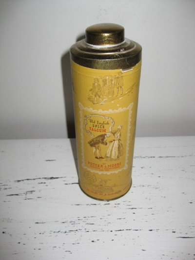 Potter and Moore Vintage Talcum Powder by ChinaAndOldStuff on Etsy, $30.00