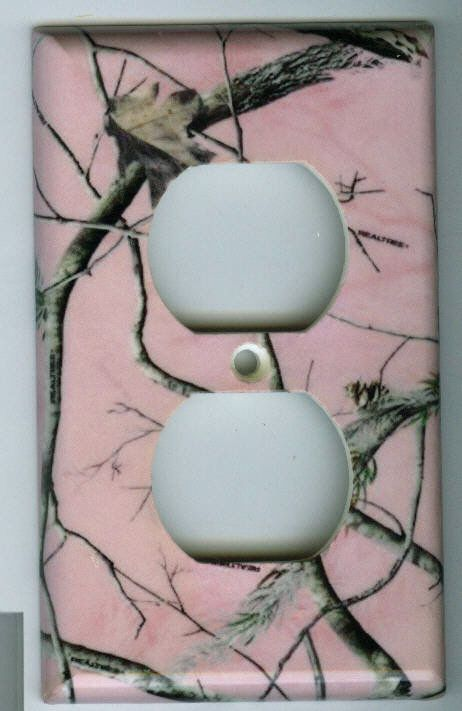 Realtree PINK Outlet Cover Camo Deer Hunting Duplex Single Plate Reeltree Ladies in Home & Garden, Home Improvement, Electrical & Solar | eBay