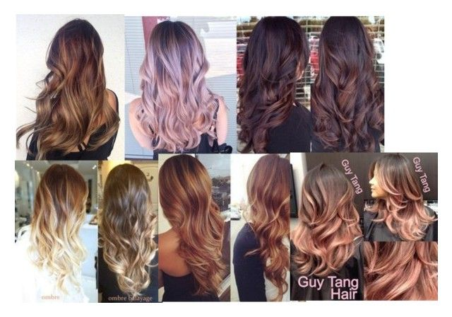 """""""Best Balayage Hairstyles for Natural Brown Black Hair Color"""" by tripledog ❤ liked on Polyvore featuring beauty"""