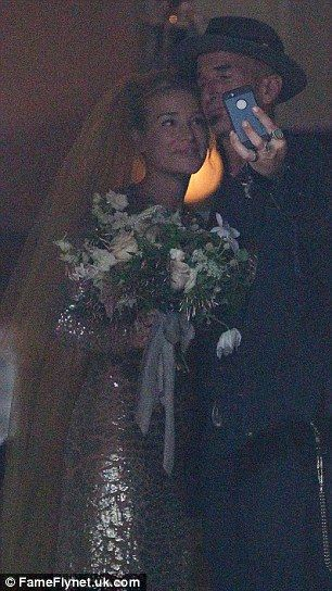 One of the album: Stephen took a memorable selfie of himself and Piper shortly after they exchanged vows at the Merchant's House Museum in New York City on Saturday, July 26, 2014