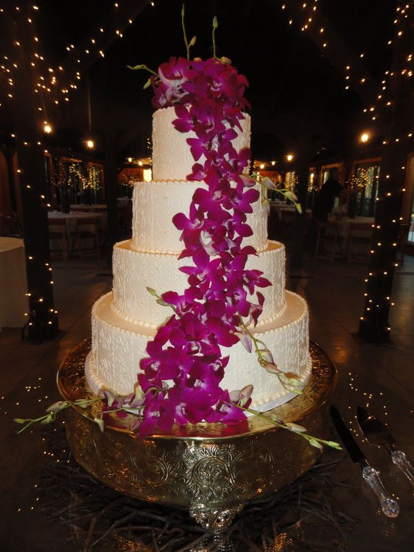 orchid tiered wedding cake tallahassee wedding pinterest wedding cake wedding and tiered. Black Bedroom Furniture Sets. Home Design Ideas