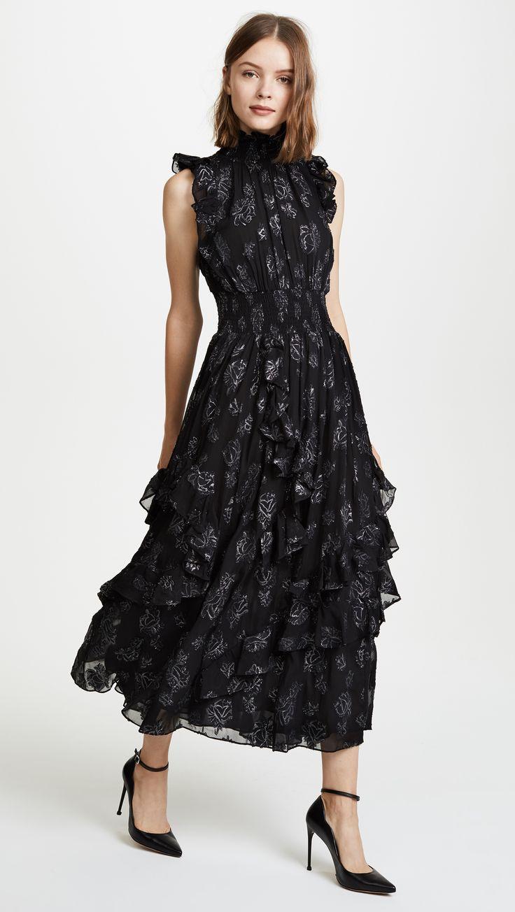 Sleeveless Rose Metallic Dress