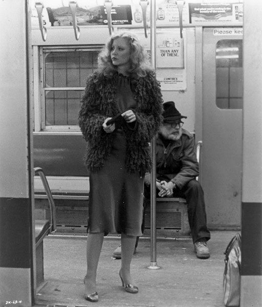 Dressed to Kill - cornered on the subway.  Everyone has designs on Liz.