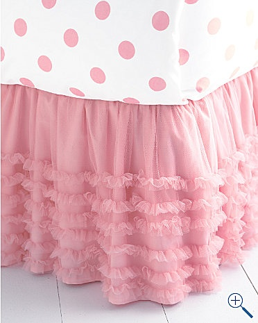 tulle bedskirt: Pink Tulle, Polka Dots, Tulle Bedskirt, Beds Skirts, Big Girls Rooms, Cribs Skirts, Baby, Kids Rooms, Ruffles