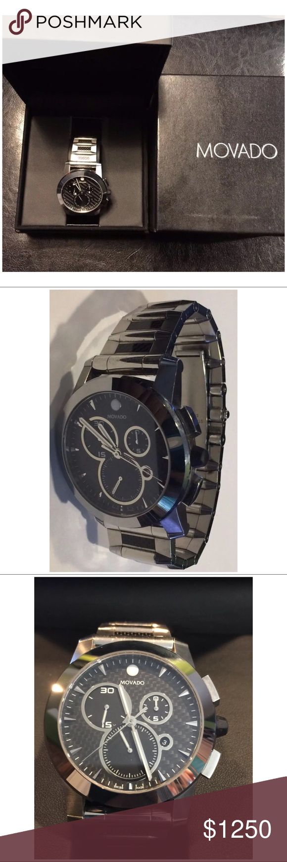 Selling this Men's Movado Vizio Chronograph Tungsten Watch on Poshmark! My username is: robinsongal43. #shopmycloset #poshmark #fashion #shopping #style #forsale #Movado #Other