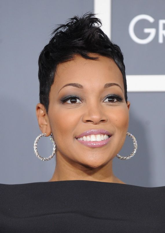 Monica -- Sexy Short Hairstyles for Black Women