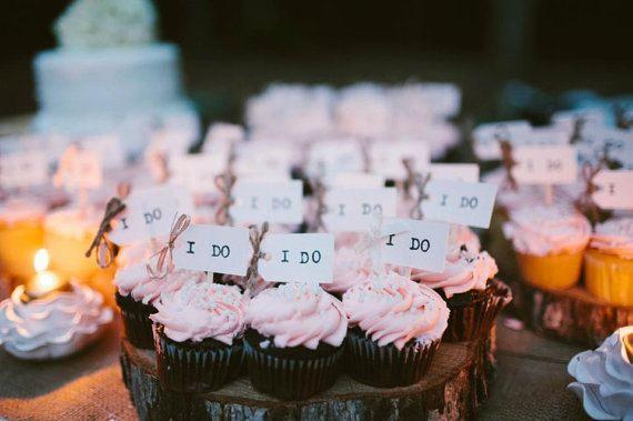 50 I DO Wedding Cake Toppers /Wedding Cupcake Toppers door LiamsPost, $30.00