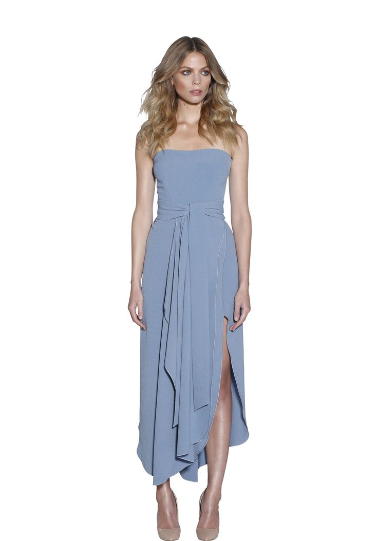 POWDER BLUE STRAPLESS DRESS | #W #BYJOHNNY #LIMITEDEDITION #AUSTRALIANFASHION