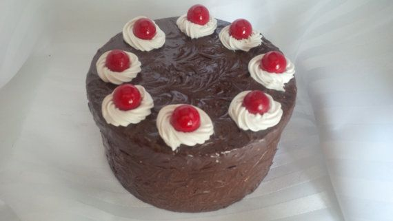 CAKE IS A LIE Medium Faux Cherry Topped by ReadyMadeGifts on Etsy, $29.99. Would make a beautiful gift!