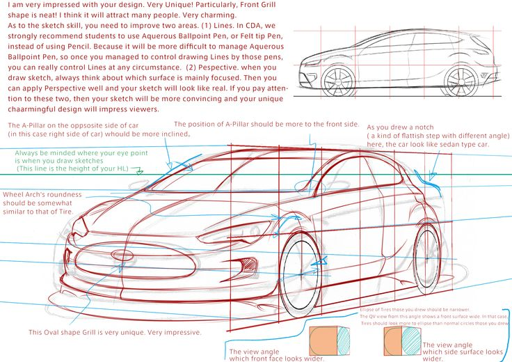 """I'm impressed your design! Particularly the Front Grill shape!,"" our professional car designer commented on this Free Trial Sketch. You can anytime try our one lesson for FREE. That is CDA Free Trial Sketch Course. Apply now. #design #designlife #conceptcar #autodesign #sketch #automotive #automotivedesig"