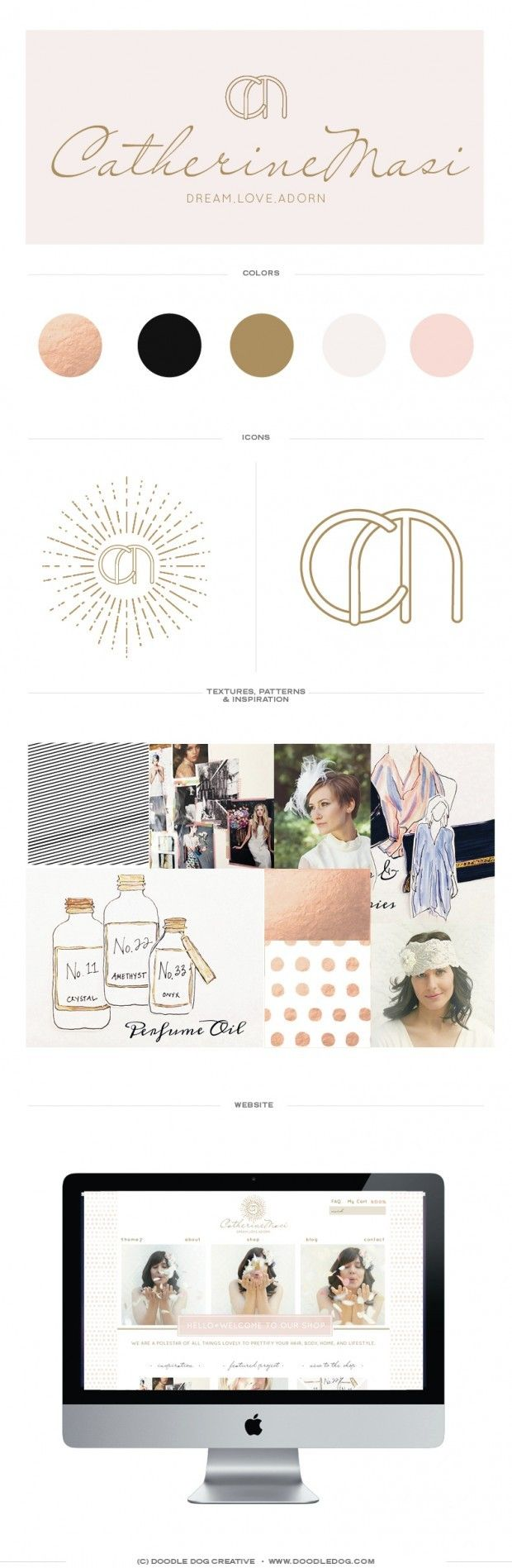 Brand Identity for fashion driven eCommerce website, Catherine Masi! — Doodle Dog Creative. custom logo design, custom branding, custom site, custom website design, custom site design, logo inspiration