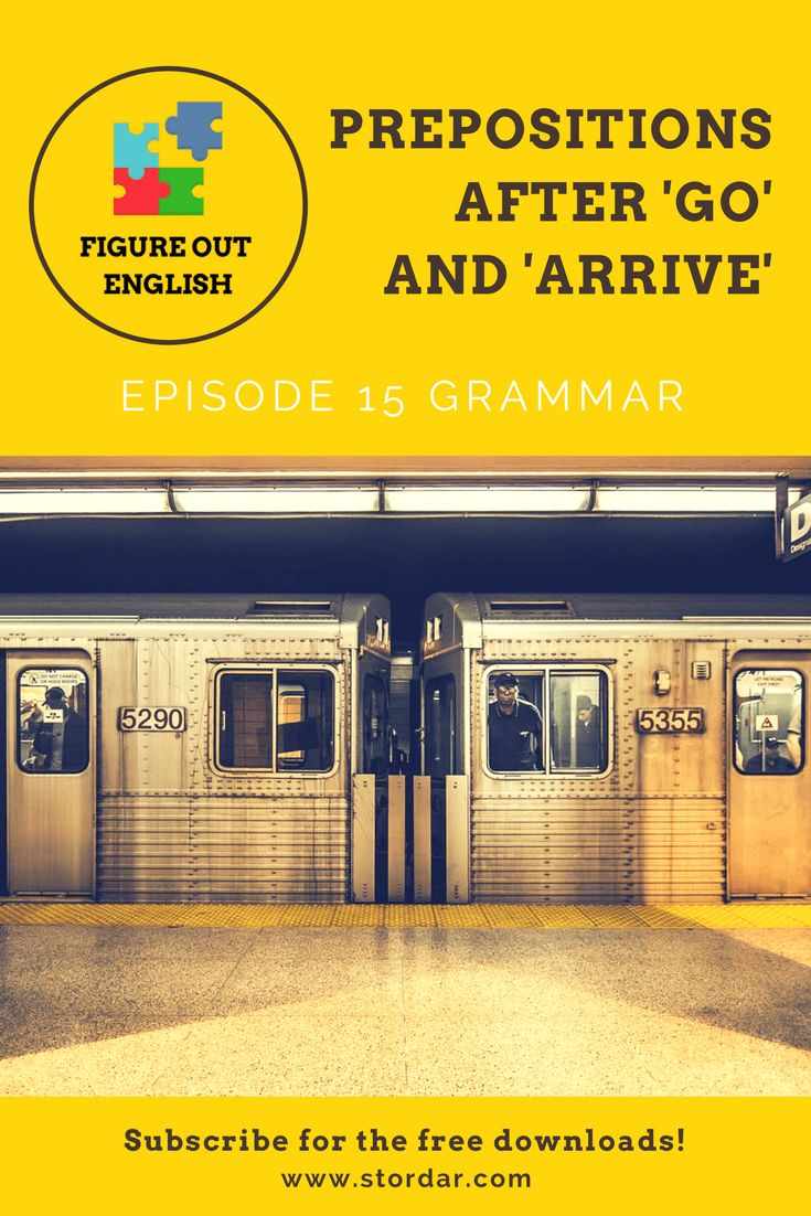 Figure Out English podcast for English learners:  Episode 15 Learn how to use Prepositions of Movement after verbs 'go' and 'arrive' | Figure Out English