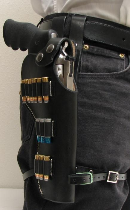 Item:9875791 CUSTOM TACTICAL LEATHER HOLSTER - RUGER GP 100 6 For Sale at GunAuction.com