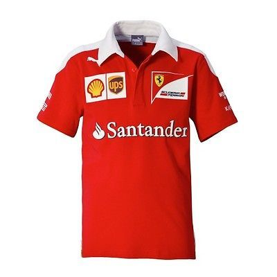 2016 #official #scuderia ferrari f1 mens puma team polo #shirt - new,  View more on the LINK: 	http://www.zeppy.io/product/gb/2/272246004159/