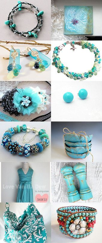 "See my Semi-Precious, Hand-Knotted Wrap Bracelet made of Turquoise-Dyed Polished Howlite Nuggets, Czech Fire-Polished Silver Crystals and Dark Brown Linen Cord in a STATTeam Treasury, ""Turquoise Dream"" by Veronica Mormone on Etsy--Pinned with TreasuryPin.com The direct link to my Bracelet is: https://www.etsy.com/listing/216483661/turquoise-dyed-howlite-nuggets-handmade?ref=tre-2727578294-5 Thanks, Eloise ***AdornmentsByEloise***"