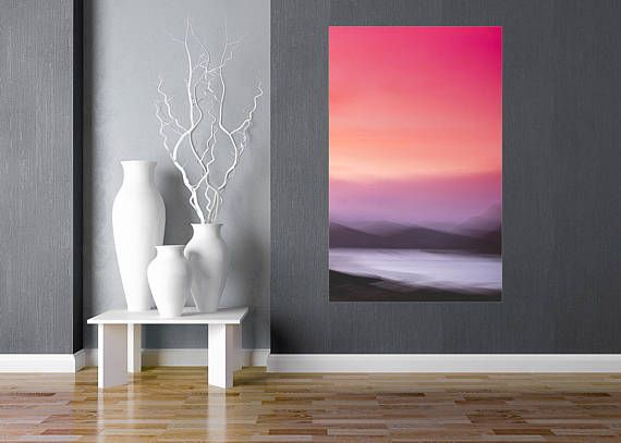 Pink, Rose Gold, Abstract Canvas Large Canvas, XXL, Abstract Sunrise, Extra large wall art, Pink, Huge Canvas, Extra large, livingroom decor