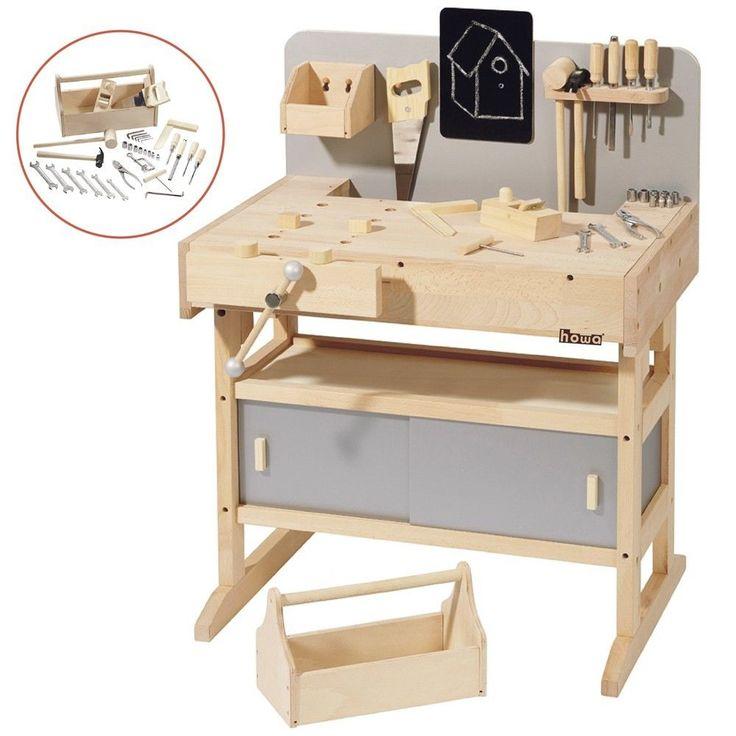 massive howa Werkbank / Hobelbank / Kinderwerkbank mit 32 tlg.Werkzeug   in Spielzeug, Holzspielzeug, Werkzeuge & Werkbänke | eBay!
