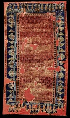 Seljuk rug, 13th century, Konya, Turkey. Museum of Turkish and Islamic Arts, Inventory no: 681. Found in the Alaaddin ('Ala' al-Din) Mosque in Konya