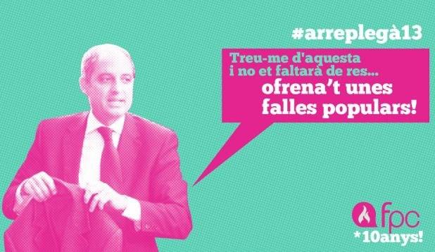 """#FALLES #POPULARS #COMBATIVES #VALENCIA #ARREPLEGA #PPCC #CROWDFUNDING #VERKAMI - Francisco Camps amb les Falles Populars i Combatives 2013 Ja està ací L'ARREPLEGÀ de les #FPC13! Ni loteria de nadal, ni loteria del """"niño""""! Crowdfunding, que sempre toca!  +INFO: http://fallespopulars.org i https://facebook.com/fallespopularsicombatives  Campaña crowdfunding verkami www.verkami.com/projects/4128"""