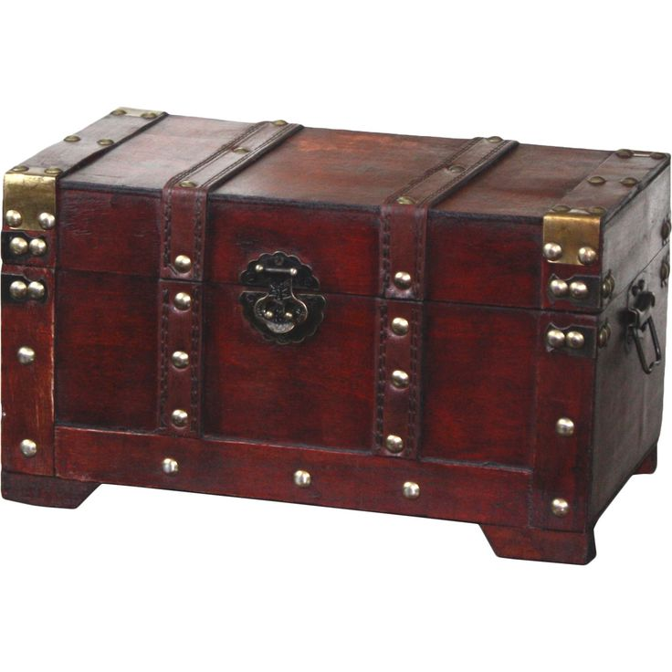 Hide Your Treasures In This Decorative Antique Style Wooden Trunk. Perfect  For Decoration Or Storage