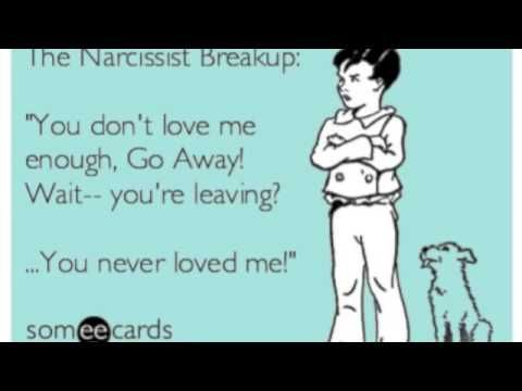 """Very Good Video on How to leave a narcissist!   """"more than likely been doubting what your senses have been telling you. Because you've invested so much time in the person…might as well put up w/ it because it's really hard finding somebody else, getting a divorce is expensive...All the hoops that you've jumped thru, all the sacrifices, all the bad behavior that you've tolerated..""""  http://www.youtube.com/watch?v=ts4deaT3Dd8"""