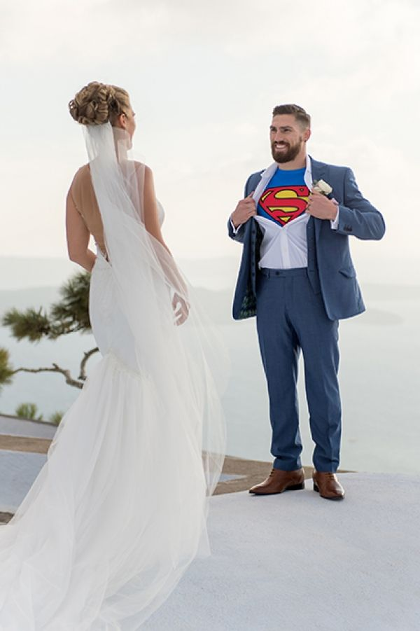Hereby we present you Superman and Lois Lane's wedding! Or else...Jessica and Jarrod!