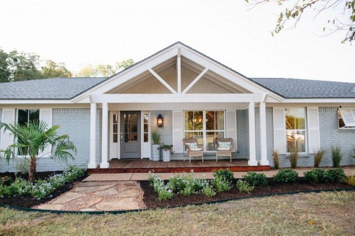 Great Front Porch Addition Ranch Remodeling Ideas Ranch Style Homes House Exterior Front Porch Addition