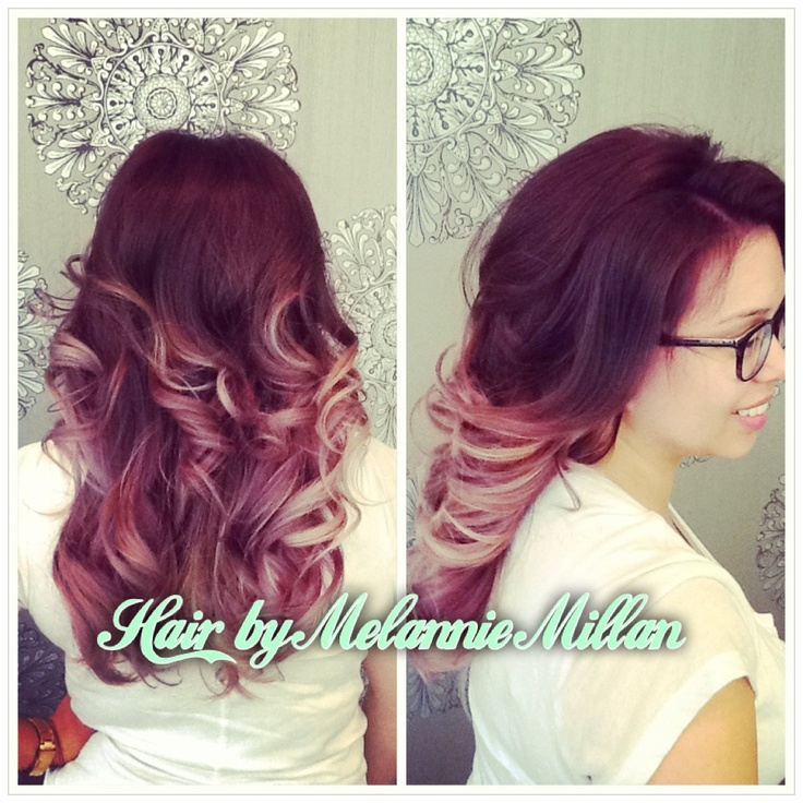Plum to lavender ombre. #longhair #ombre #purple #hair ...
