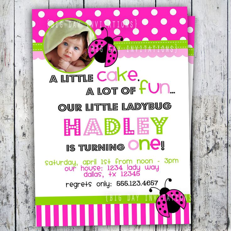 Ladybug first birthday party invitations nemetasfgegabeltfo ladybug birthday invitation 1st birthday photo party invitation pink and green girl printable 1149 filmwisefo