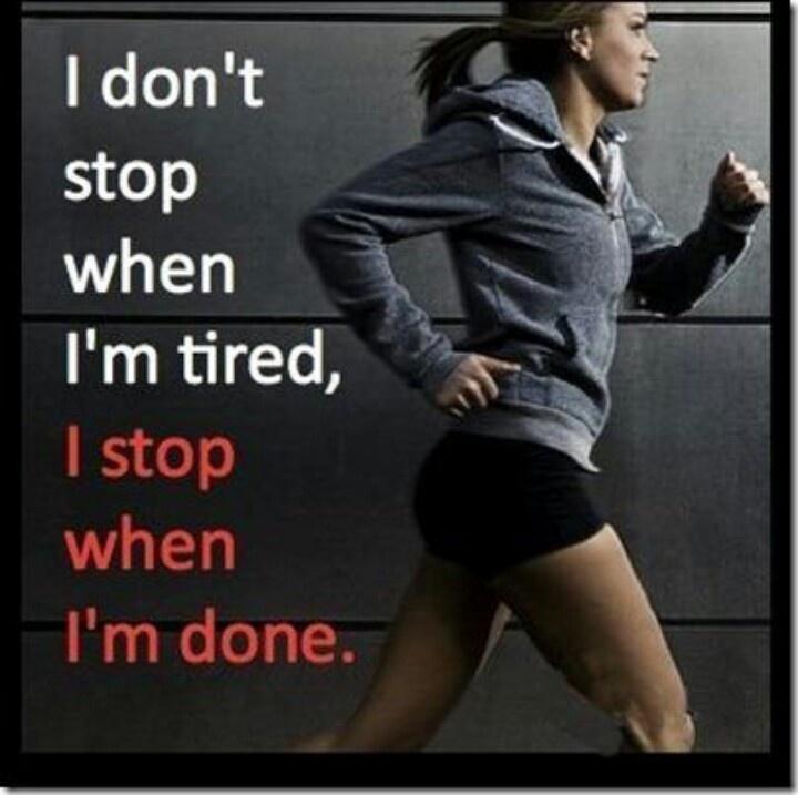 Le sport aide aussi à augmenter sa détermination et son dépassement de soi...