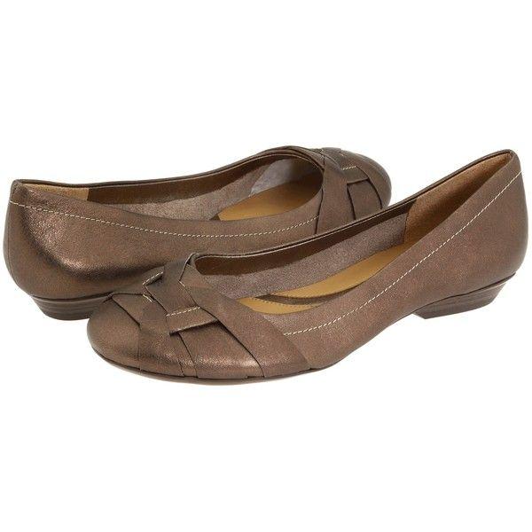Naturalizer Maude (Nickel Alloy Metallic Smoke Leather) Women's Flat... ($30