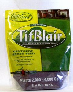 Tifblair Centipede Grass Seed (1 Lb.) Direct From the Farm by Patten Seed Company. Save 2 Off!. $31.41. A turfgrass for full sun to partial shade. It's also drought tolerant.. This product is 100% Pure Seed (no mulch) - you get the actual 1 lb. of seed.. When you order from Patten Seed Company, you're ordering directly from the family farm.. Each 1 lb. bag will cover up to 4,000 square feet.. Tolerant of extreme heat and cold; it's a well-adapted lawn from the southern coast to the upp...