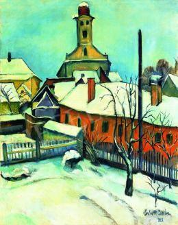 Perlrott Csaba Vilmos - Nagybánya télen, 1928
