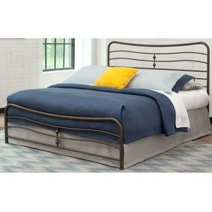 ExceptionalSheets Stratus Carbon Steel Folding Bed Frame with Headboard & Footboard Full Parent