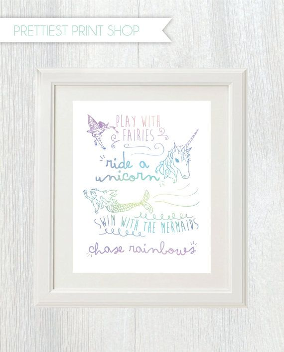 Printable unicorn party sign Play with by PrettiestPrintShop