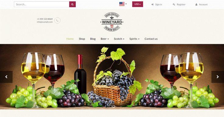 Wineyard #Wine Store #Theme for #Odoo #v8 eCommerce