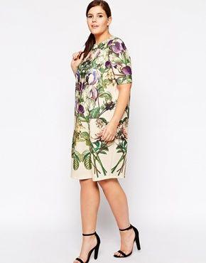 Shift Dress In Botanical Mirror Floral