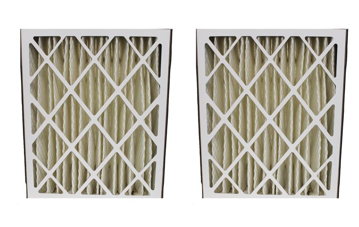 2 Merv-8 20x25x5 Carrier Pleated HVAC Filters Fit MF2025