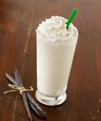 Starbucks Vanilla Bean Frappuccino recipe:  Fill Magic Bullet cup 2/3 full of crushed ice. Add:  1/4-1/3 cup 2% milk  3 Tblsp. half-and-half  2 Tblsp. fat-free French vanilla coffee creamer (we like Coffeemate)  1 Tblsp. vanilla  1 Tblsp. caramel ice cream syrup     Mmmmmm! Delish!