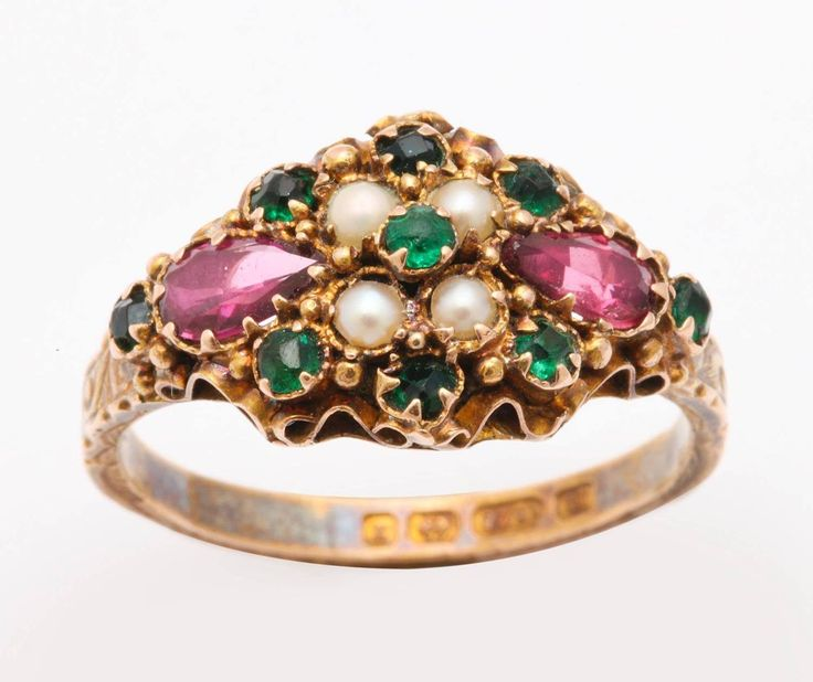 A Ring In Suffragette Colours From The Glorious Antique Jewelry Collection