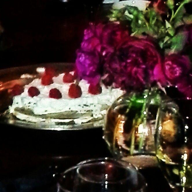 Norwegian raspberry cream cake