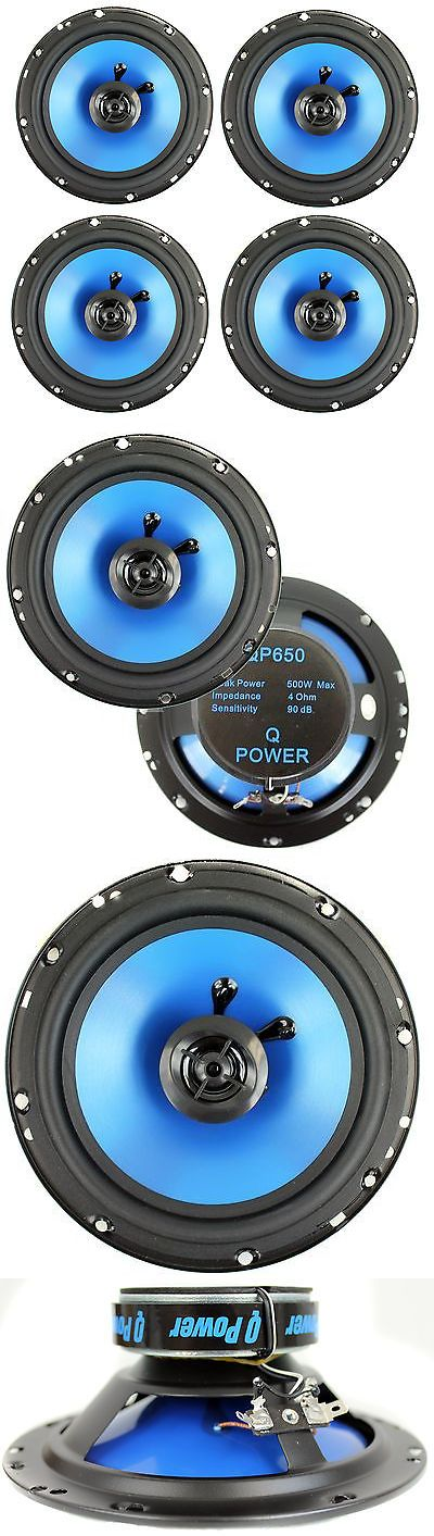 Car Speakers and Speaker Systems: 4) Q Power 6.5 300 Watt 2-Way Blue Car Audio Stereo Coaxial Speakers | Qp650 -> BUY IT NOW ONLY: $32.99 on eBay!