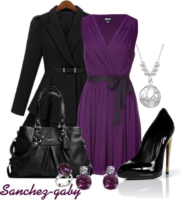 """""""Coach Bag & Purple Dress"""" by sanchez-gaby on Polyvore - OMGosh, this is my life!"""