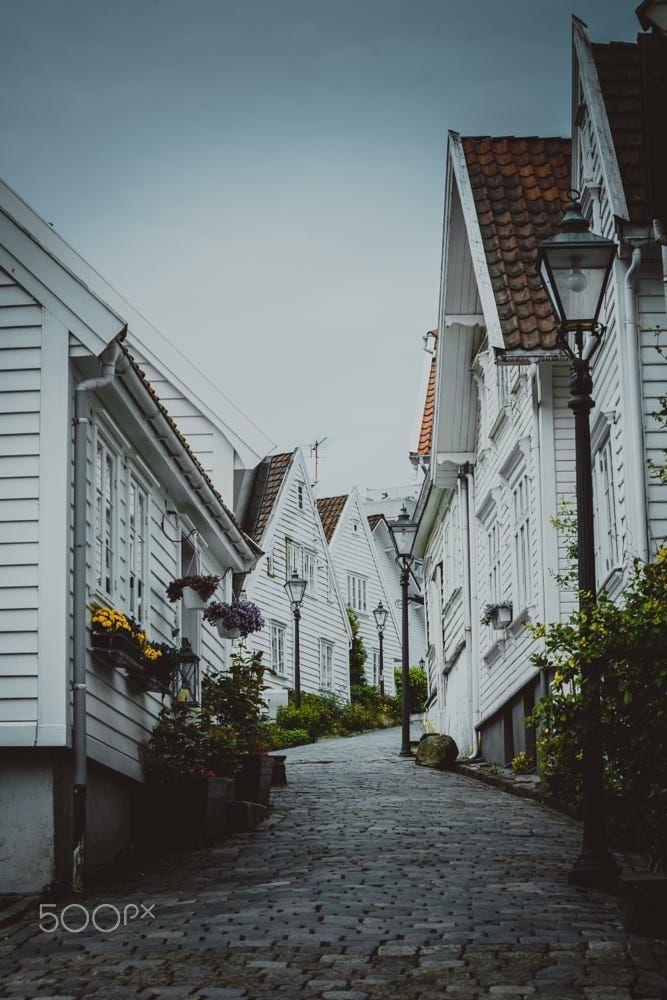 Stavanger, old town by Sergei Chabin on 500px
