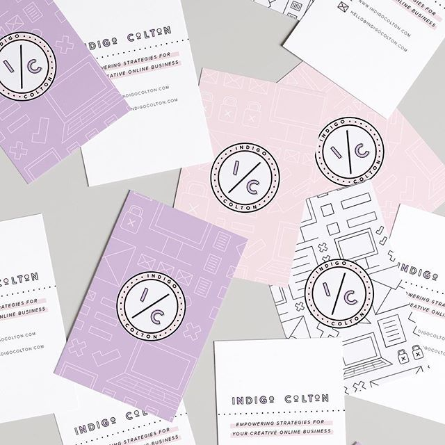 Business cards I created for @indigocolton last year! I'm still so obsessed with how the logo and patterns go together. I'm taking on new #branding clients for mid February/March, so if you wanna be first in line, now is the time to get in touch at the link in my bio ☺
