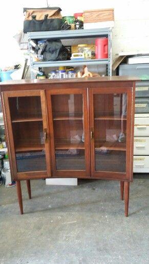 Retro curved bookcase at Jasper Kane