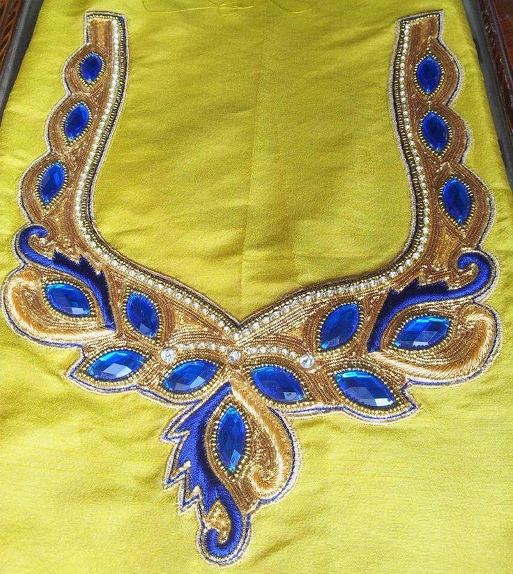Pin by Samvijay Mani on Maggam/ Aari/ Zardosi embroidery