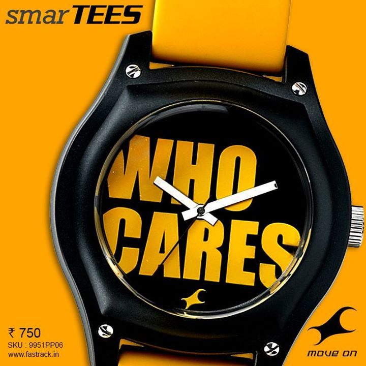 Shut them up. #SmarTEES  www.fastrack.in/product/9951PP06  #Fastrack #Fashion #Yellow #Lines #Watch #Attitude